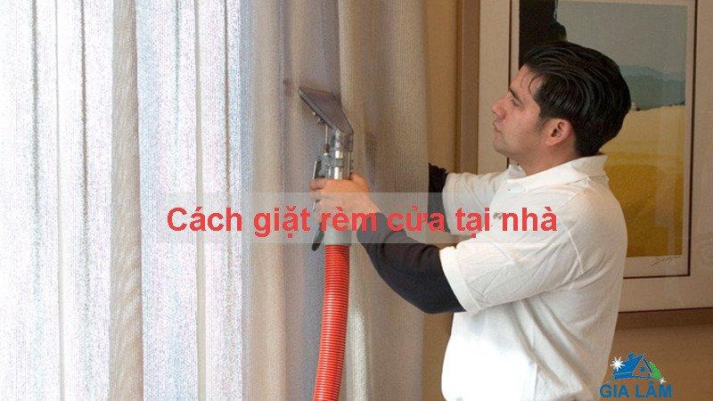cách giặt rèm cửa tại nhà