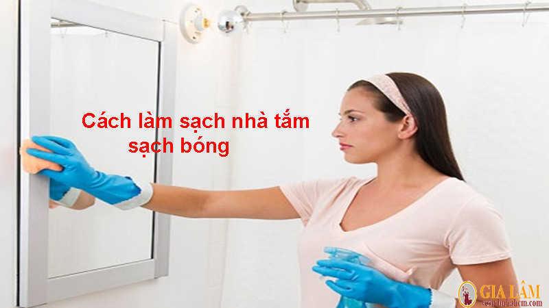 cách làm sạch nhà tắm