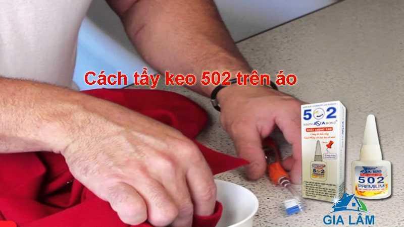 cách tẩy keo 502 dính trên áo