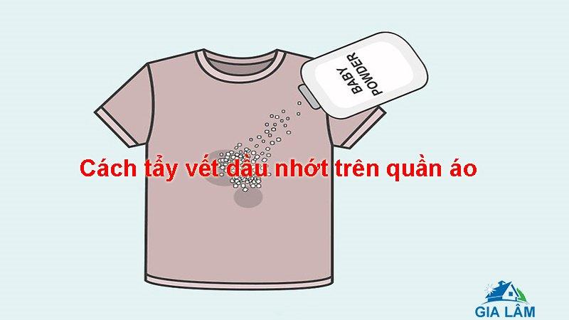 cách tẩy vết dầu nhớt trên quần áo