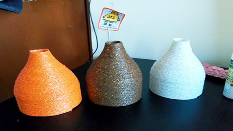 cách tái chế chai nhựa, làm đèn treo trần nhà