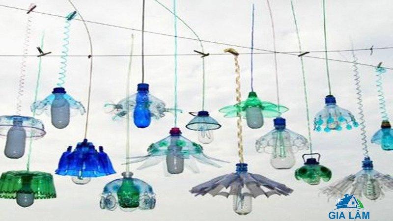 chế chai nhựa làm chóa đèn
