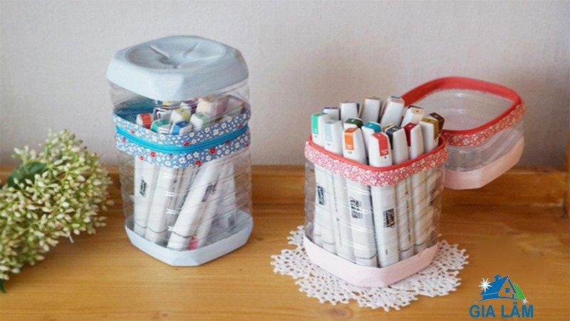 tái chế vỏ chai nhựa dễ thương