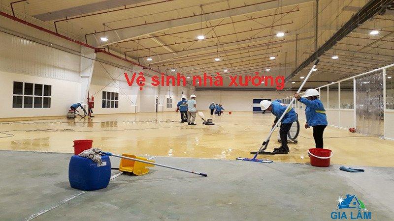 dịch vụ vệ sinh nhà xưởng