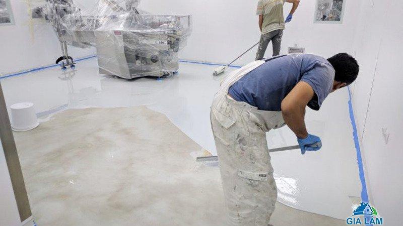 những lưu ý khi thi công sơn epoxy