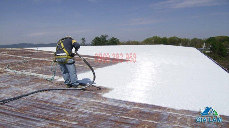 thi công sơn chống nóng mái tôn nhà xưởng