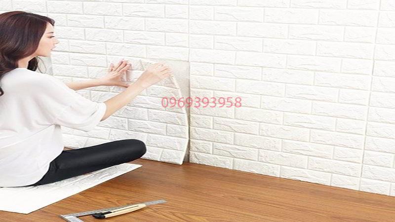 cách dán xốp dán tường