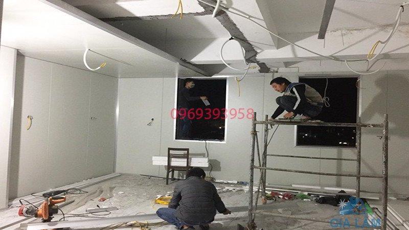 thi công trần panel pu