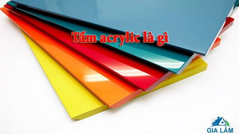 Tấm acrylic là gì