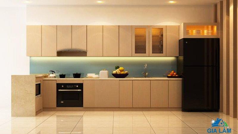thi công tủ bếp bằng tấm acrylic